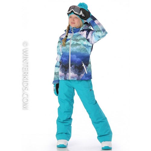 Obermeyer Girls Tabor Jacket in Elevation Print