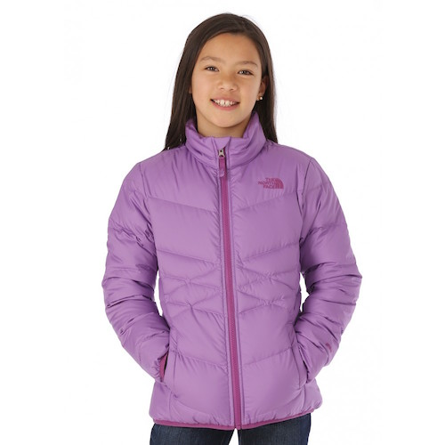 The North Face Girls Andes Down Jacket in Bellflower Purple