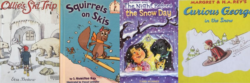 books about skiing for kids