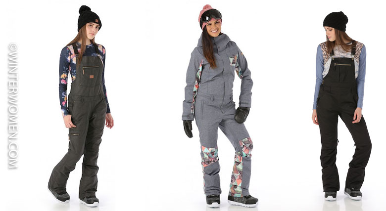one piece ski snowboard suits and bib overall ski pants