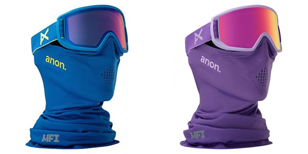 Anon Relapse Jr Goggle with Magnetic Facemask in either Purple or Blue