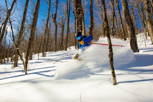 okemo glade skiing