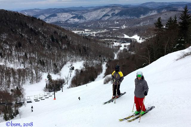family skiing at killington