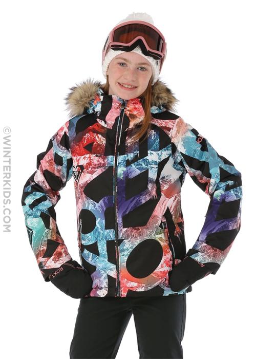 girls roxy american pie ski jacket