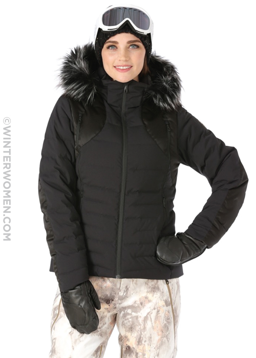 womens spyder fall line ski jacket. The Spyder Fall Jacket offers puffy  down warmth 0e496555b