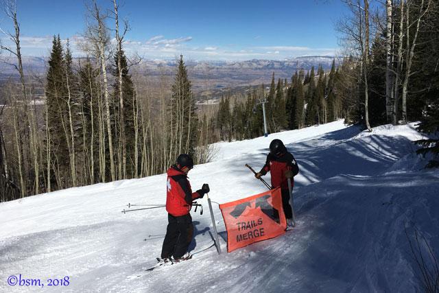 ski patrol ski along powderhorn mountain resort