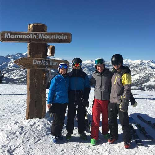 mammoth mountain family skiing