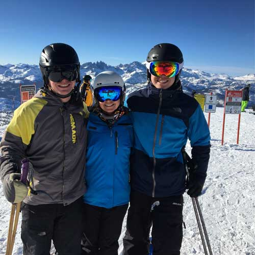 family skiing is important and fun
