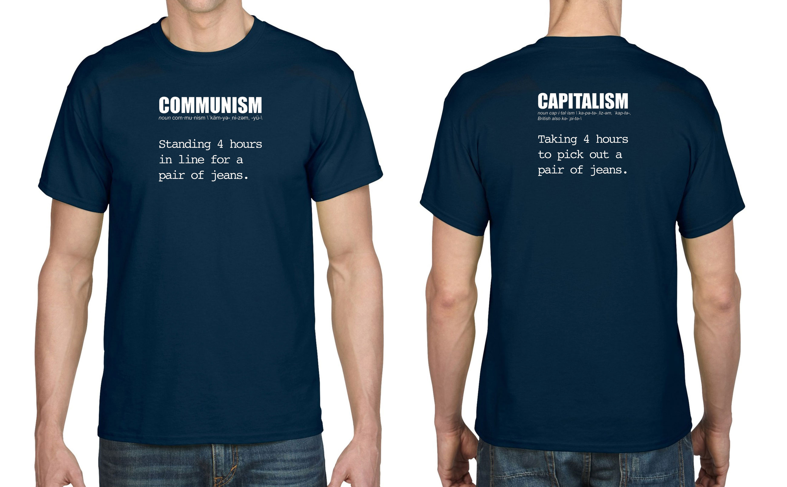 Communism Vs Capitalism T Shirt