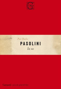 La copertina di 'Io so' di Pier Paolo Pasolini