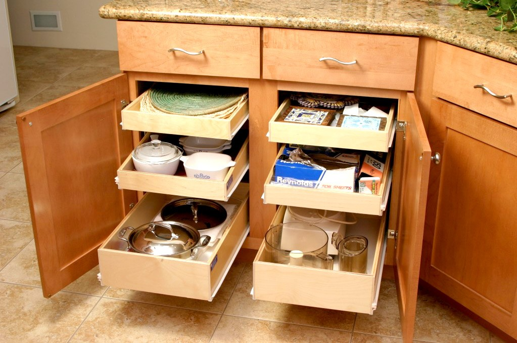 sliding drawers for kitchen cabinets shun knives pull out shelves pantry bravo resurfacing drawer upgrades