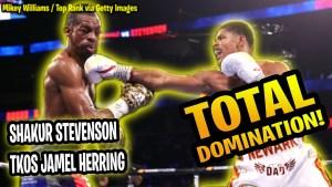 Shakur Stevenson defeated Jamel Herring