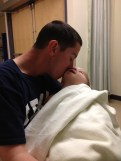 Brax and Dad in Recovery room