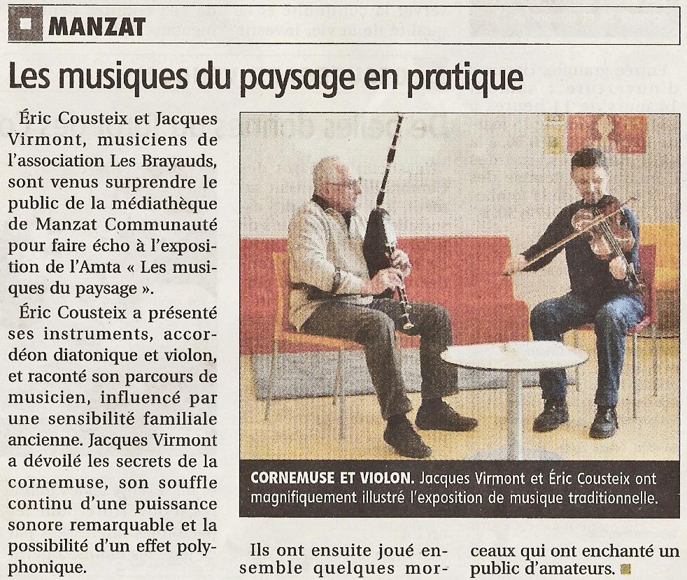 article mediatheque musique Manzat