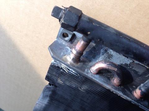 オイルクーラー ろう付け修理