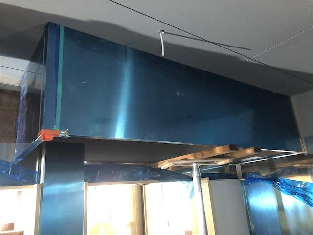 厨房用ステンレス板貼り 応援