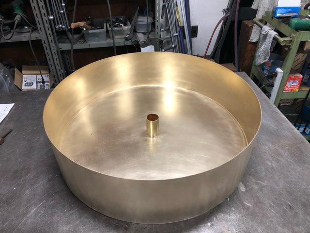真鍮 ペンダント照明カバー製作