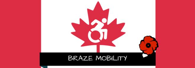 Braze Mobility banner for Canadian Veterans