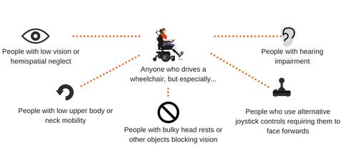 Infographic on People Who Can Benefit from Blind Spot Sensors
