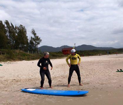 Beginners lesson Surf School- Florianopolis- Brazil