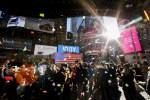 時報廣場200萬人瘋跨年 紐約出動最強警力維安