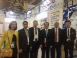 鄭代表探視參加「2019年墨西哥國際塑橡膠工業展」臺灣廠商