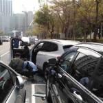 畫面曝光 阿扁豪宅旁槍響 警匪互轟20槍 嫌倒斃BMW休旅車