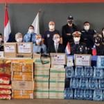駐東方市總領事館與僑社 共同捐贈消防物資