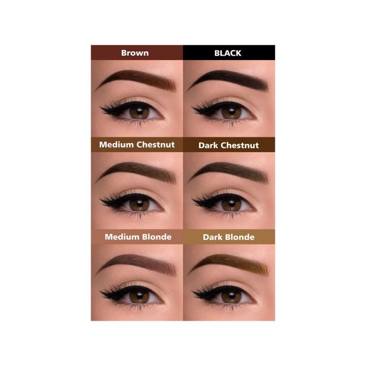 6 kleuren henna brows