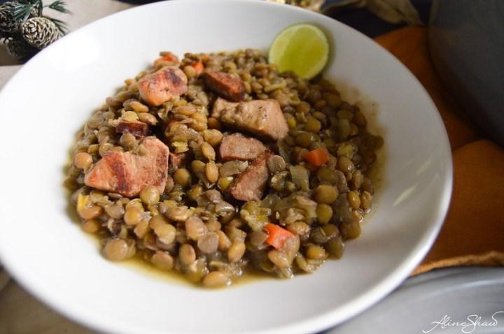 Green Lentil Pork Stew