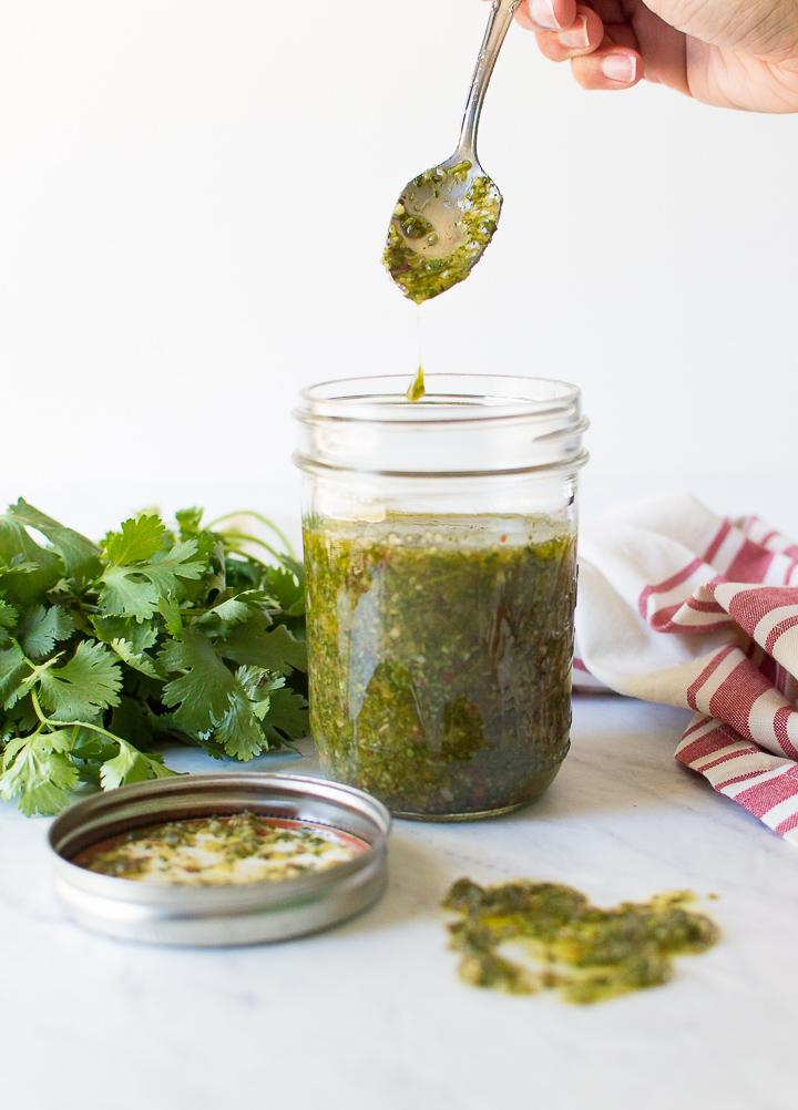 Cilantro Chimichurri Sauce Recipe