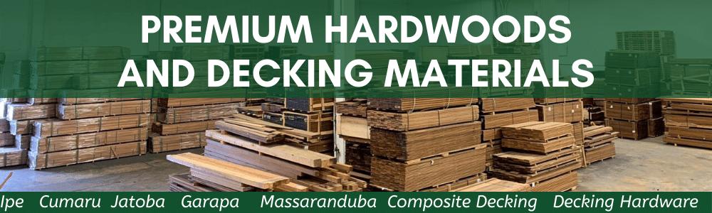 Ipe, Cumaru, Jatoba, Garapa, Massaranduba, Composite Decking Decking, Hardware