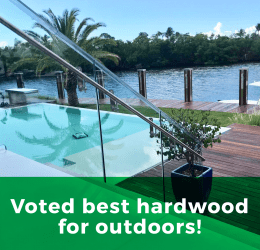 Voted best hardwood for outdoors