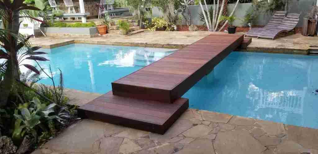 Ipe pool decking