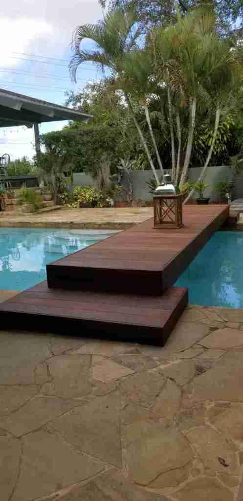 Ipe lumber boardwalk
