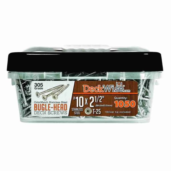 "Steel Bugle-Head Deck Screw  #10x2-1/2"" (1050 ct.)"