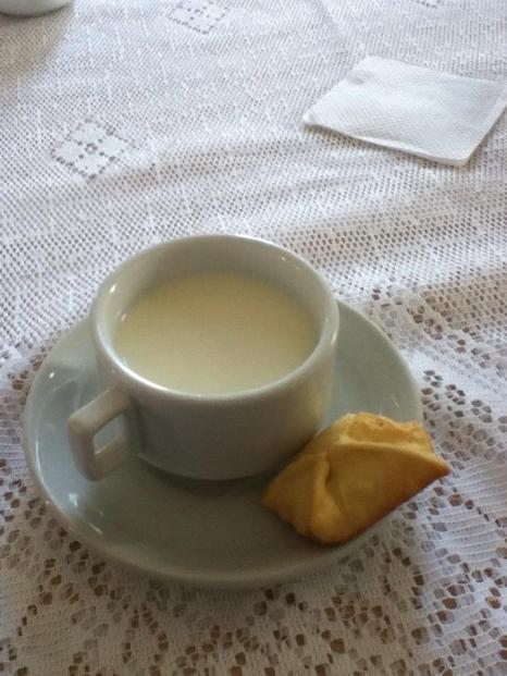 Fresh chilled milk = Happy camper