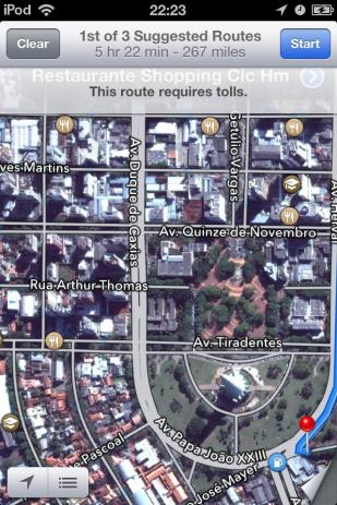 Our hotel was on Av. Duque de Caxias, near the cathedral in the grass-surrounded semicircle