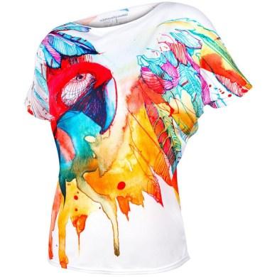 koszulka oversize parrot front amazonas