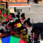 Birds eye view of Chichicastenango market