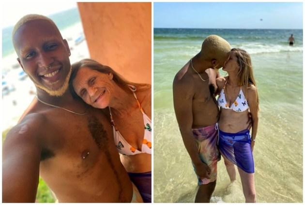 Jovem de 24 anos está noivo de idosa de 61 anos e garante que não está com a mulher apenas por dinheiro -