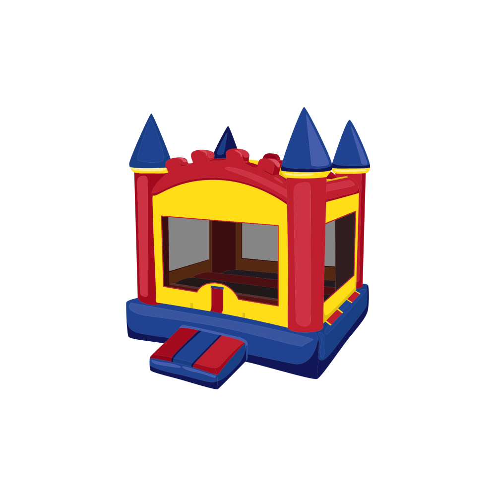 medium resolution of castle bounce house
