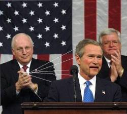 Cheney pulls the strings.