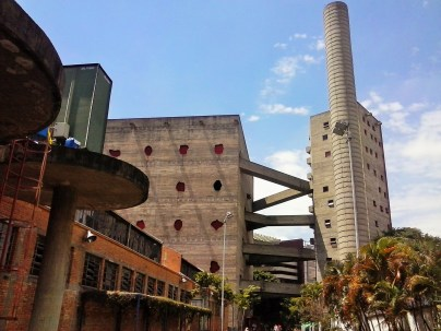 The famous brutalist SESC Pompeia Towers by Lina Bo Bardi - photo P. Ray