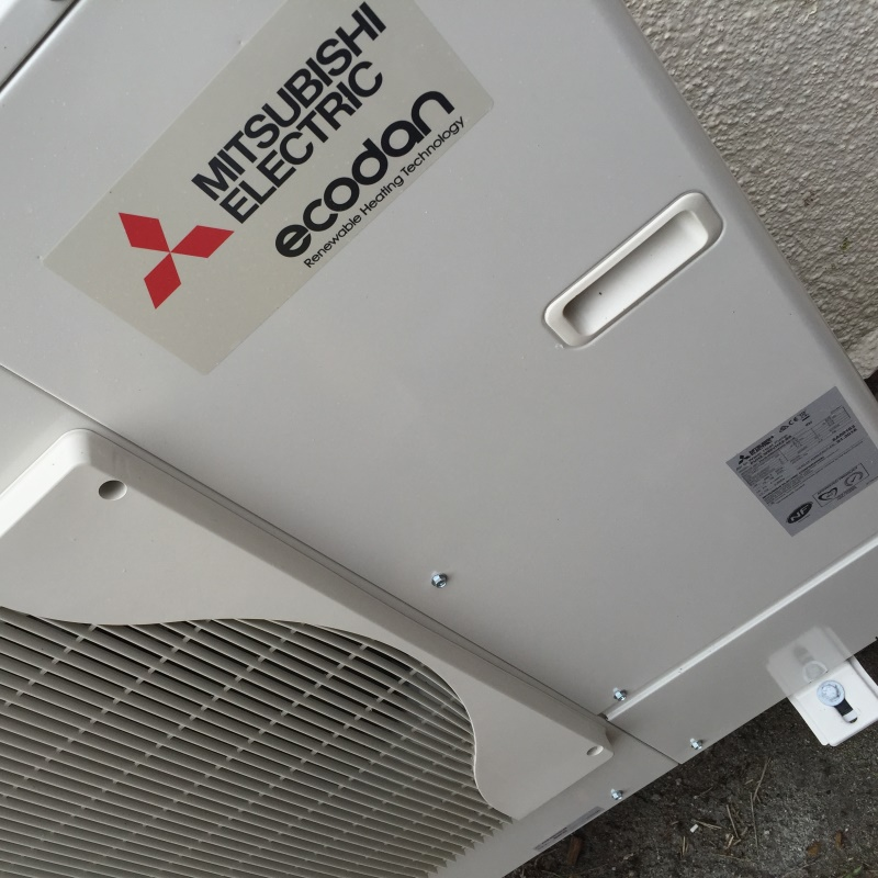 A Mitsubishi Heatpump We Installed for a Client