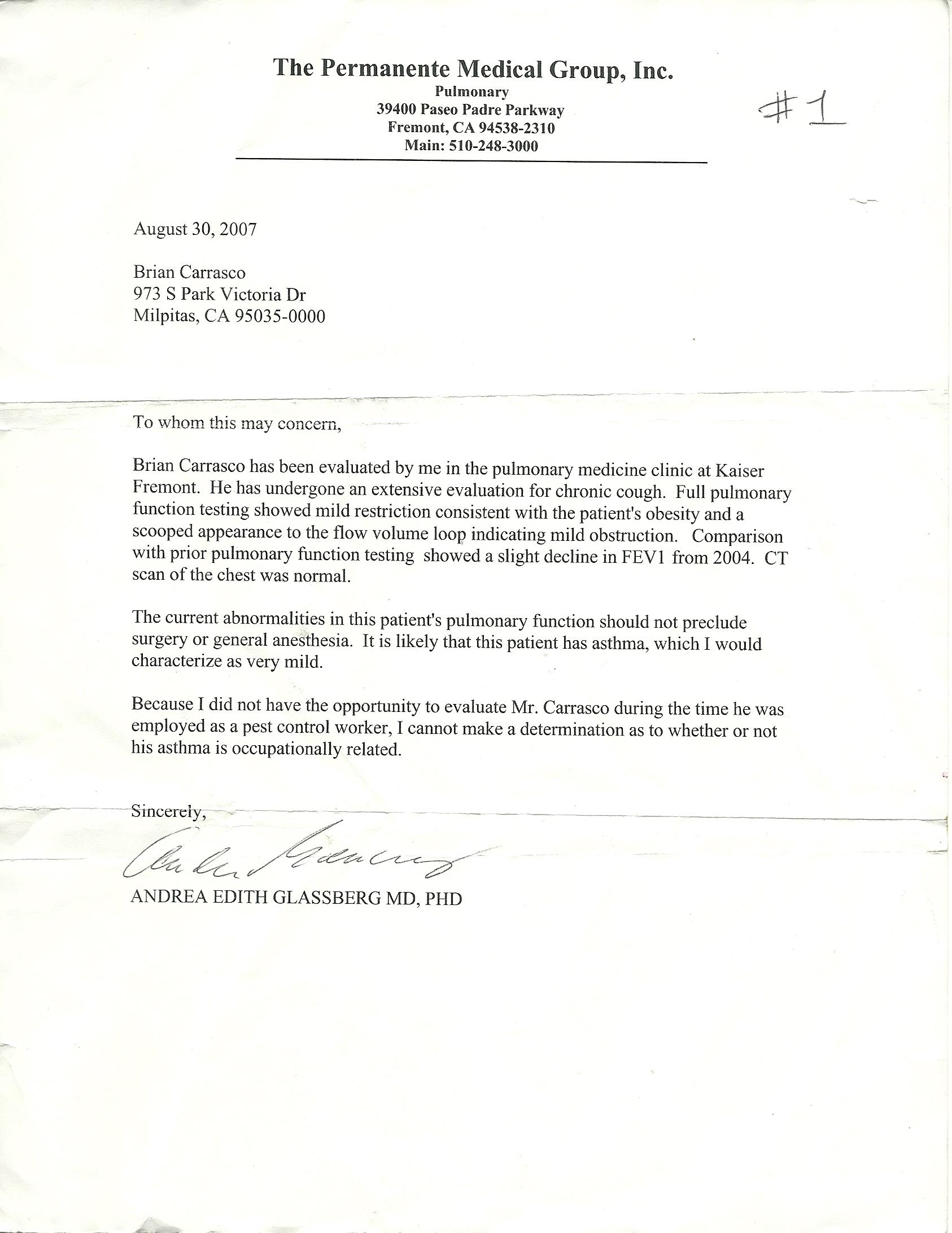 Kaiser Permanente Doctors Note Resume Examples Resume