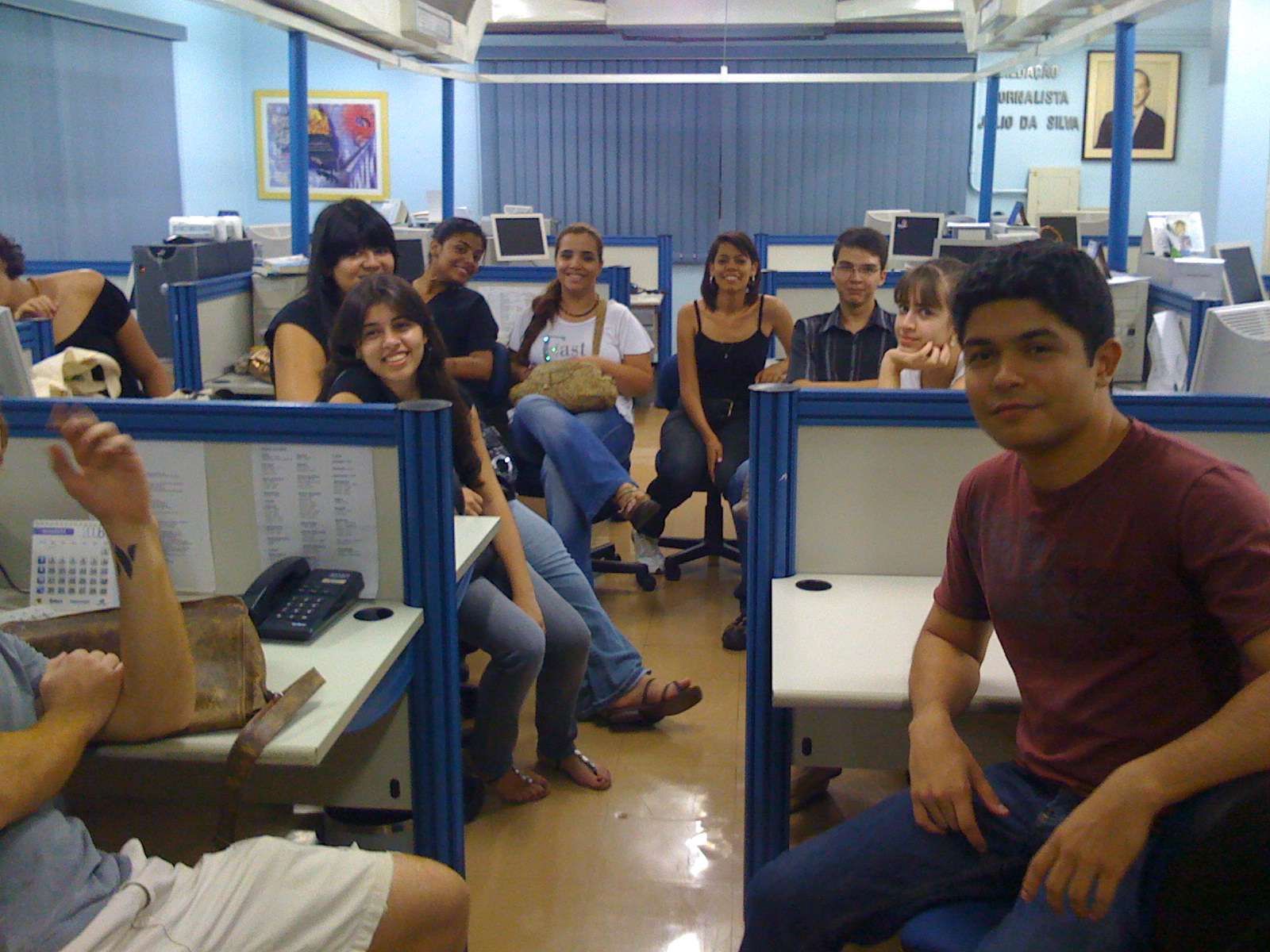 Visita dos estudantes de Jornalismo da UFMS no Correio do Estado