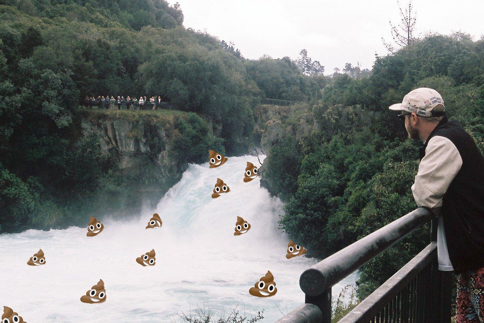Poo in river