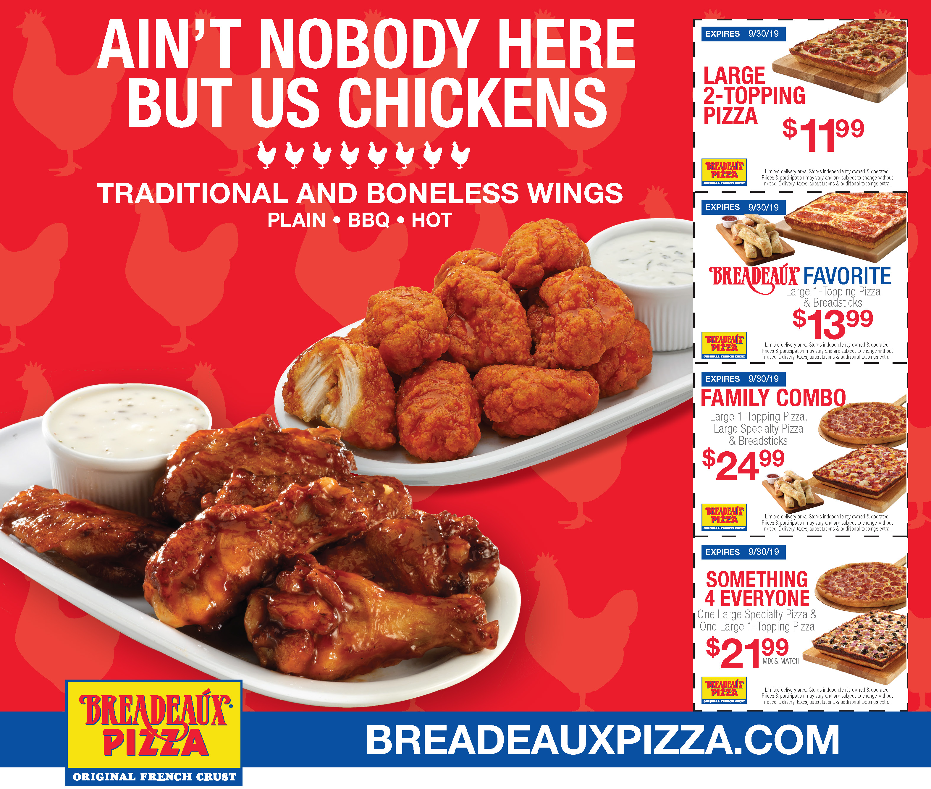 Coupons at Breadeaux Pizza and Salads   Order Online & Delivery
