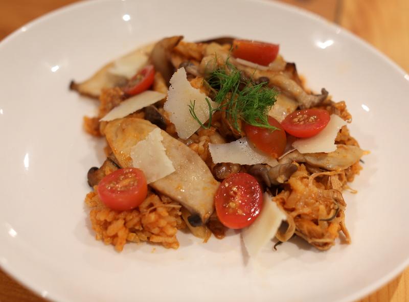 leftover risotto pork mushrooms